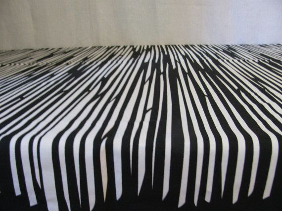 Scandinavian Tablecloth. Cotton Tablecloth. Black and white Ornamental printing