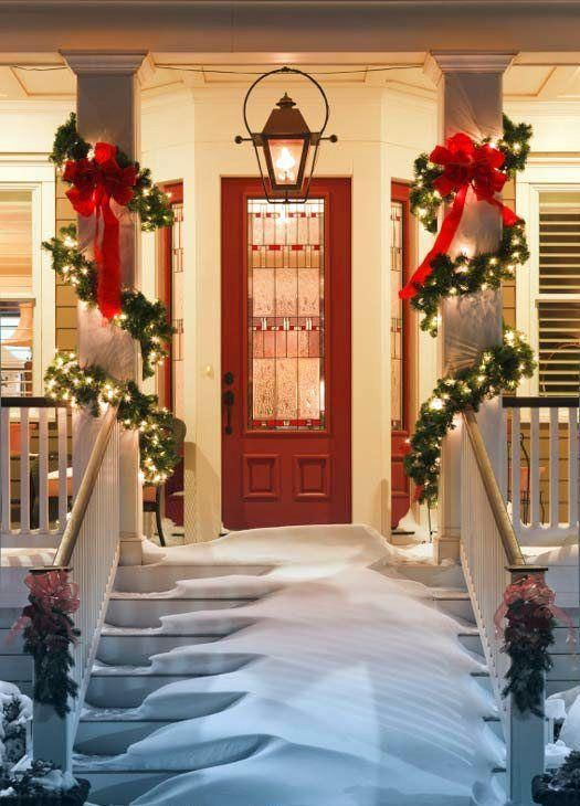 Bring Cheer To Your House This Holiday Season With These Easy Porch Decorating Ideas Christmas Decoration Please Enable Javascript View The