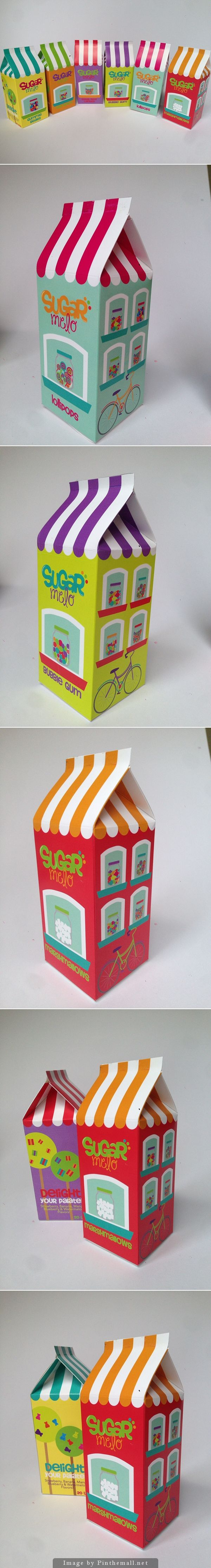 #packaging Sugar Melo Package by Nicolle Lowenthal Castillo | I love the different font styles for the logo. It's very colorful and fun.