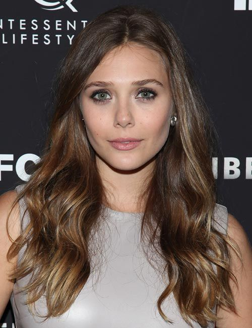 great colour and losse styling - love the muddy slightly gilded shadow too  Elizabeth-Olsen