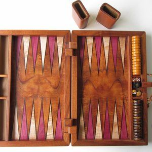 Koa Inlaid Backgammon Set by Dennis Kincaid
