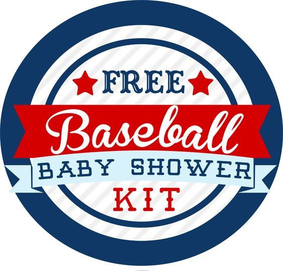Free Baseball Themed Baby Shower Kit