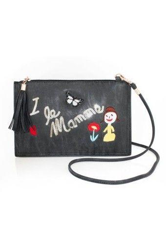 Listová kabelka s farebnou výšivkou a flitrami #ModinoSK