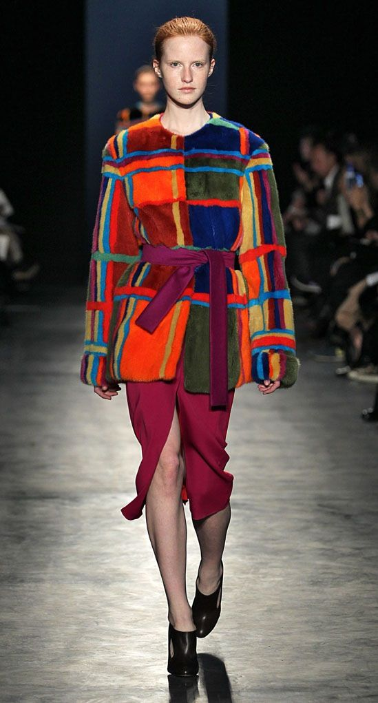 We are truly amazed by Joseph Altuzarra and his use of Saga Mink this year. Beautiful colours and intarsia patterns.