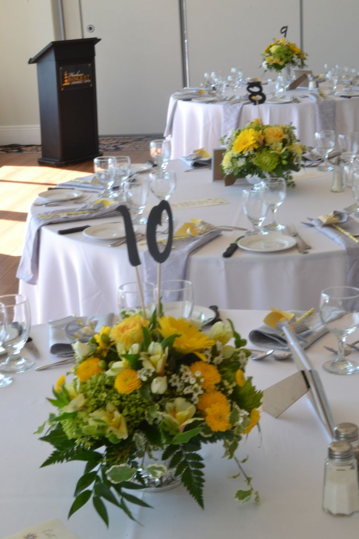 Low table centrepieces www.plushflowers.ca
