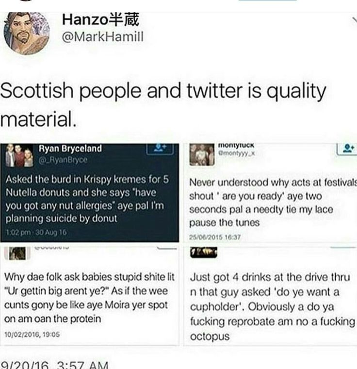 Scottish people on Twitter. reading this with the accent...