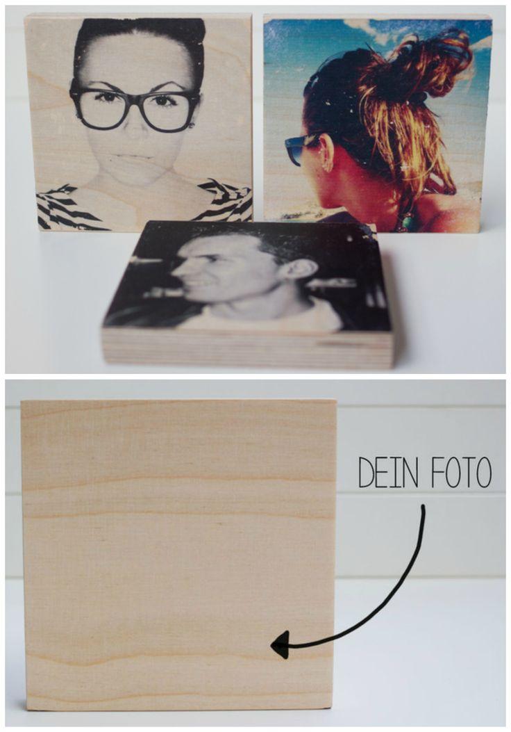Individuelles Geschenk für Freunde: Dein Foto auf einem Holzblock / funny gift idea for friends: your photos on a wooden block made by MoinMoni via DaWanda.com