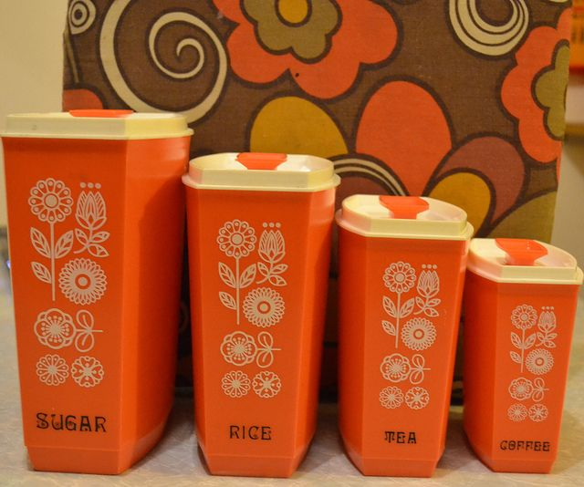orange 70s cannisters