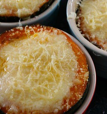 Baked Gem Squash with corn and Parmesan