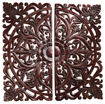 Carved Rosette Architectural Wall Sculpture traditional-wall-sculptures