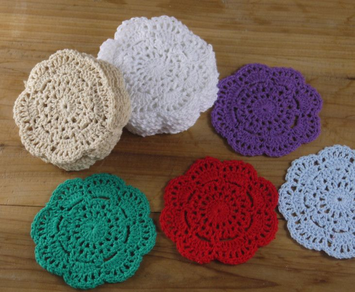 30PCS Crochet Doilies White Coasters Mat 4''/10 cm de crochet  sur DaWanda.com