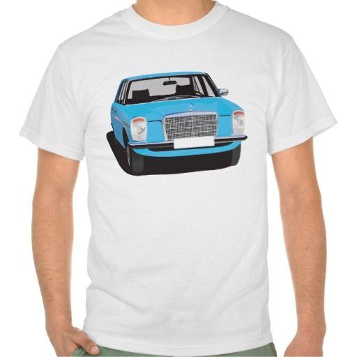 Mercedes-Benz W114/W115 blue t-shirt #Mercedes-Benz #220 #60s #70s #auto #car #bil #mersu #mercedes #classic #tshirt #tpaita #troja #blue