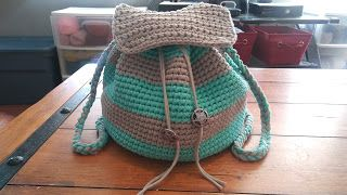 Slouchy Stripes Backpack - Free Pattern