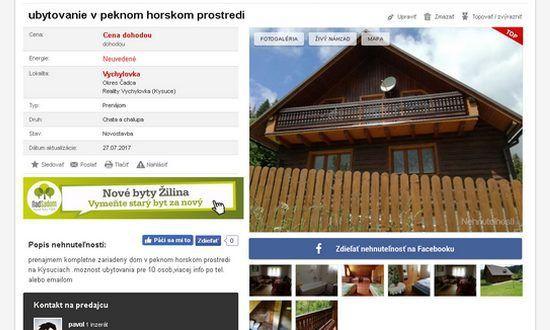Tornano popolari in Slovacchia le case di villeggiatura e i cottage di montagna