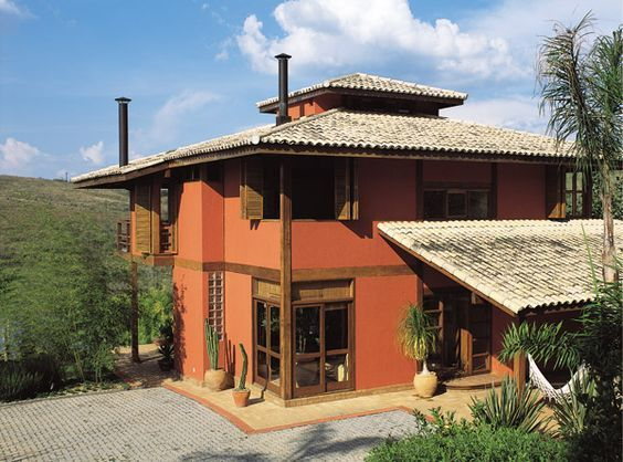 fachadas de casas color terracota - Pesquisa Google