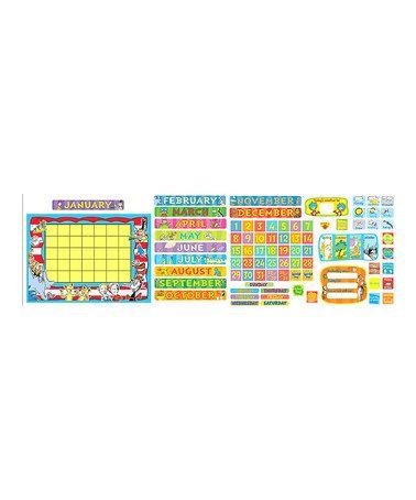 Look at this #zulilyfind! Dr. Seuss Calendar Bulletin Board Set #zulilyfinds