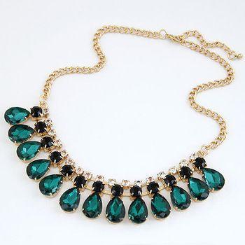 Будьте Jewerly 2014 новинка ювелирные изделия драгоценных камней себе золотые ожерелья и подвески оптовая продажа колье ожерелья для женщин