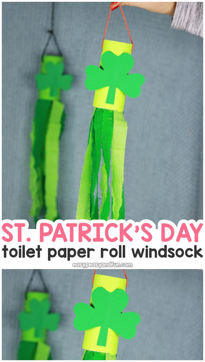 St Patrick S Day Windsock Toilet Paper Roll Craft Paper Roll