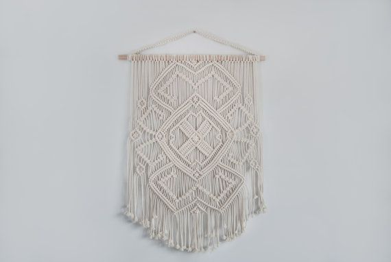 Macrame muur opknoping macrame wall art door TheWovenDreamFactory