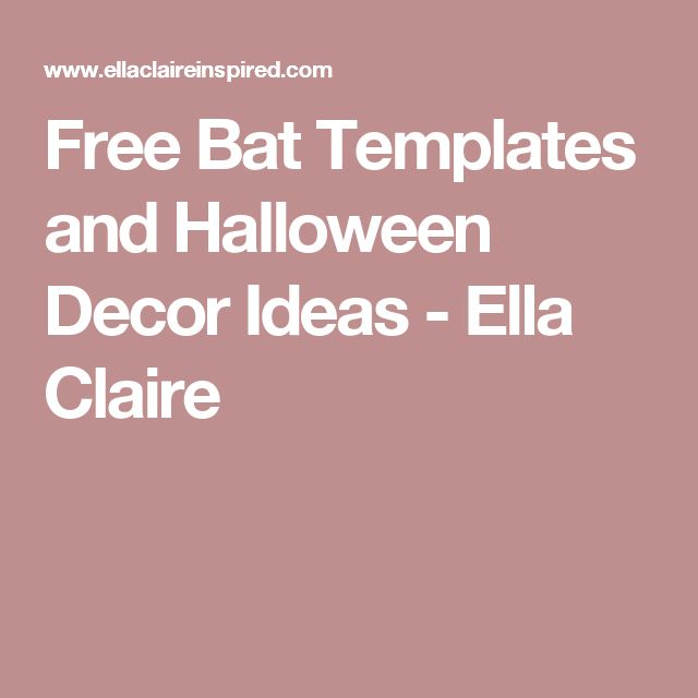 The  Best Bat Template Ideas On   Halloween Bat