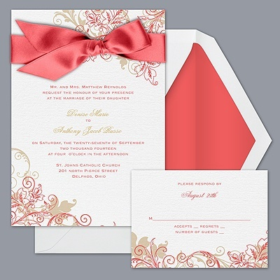 Guava wedding invitation idea