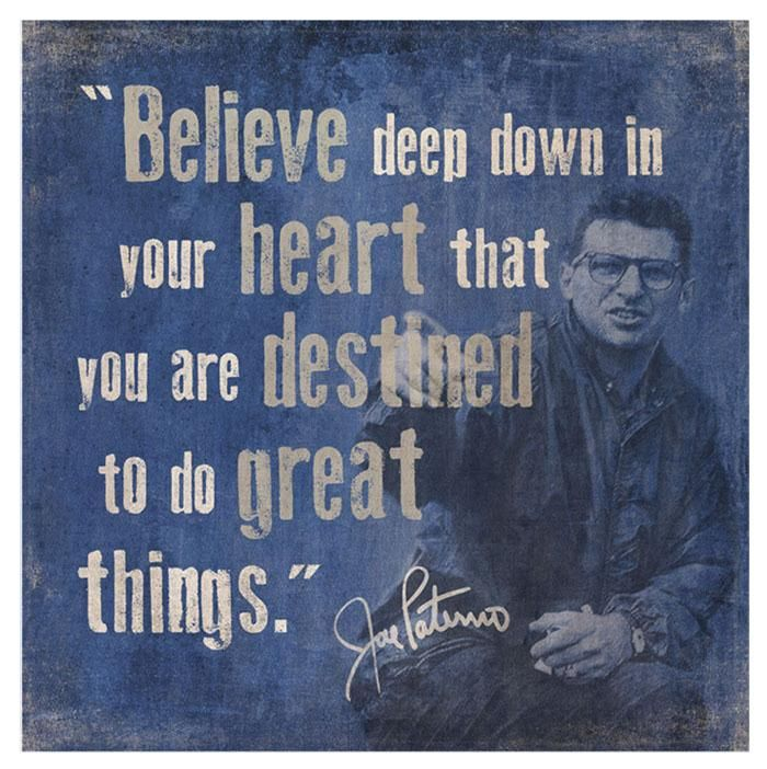 "Penn State Jo Paterno ""Believe"" Canvas 