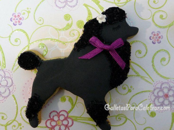 Galletas de perritos decoradas con coco