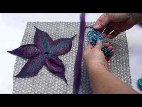▶ Create a Felt Flower - YouTube
