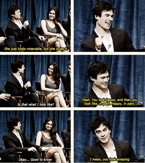 Nina Dobrev and Ian Somerhalder interview lol The Vampire Diaries actors