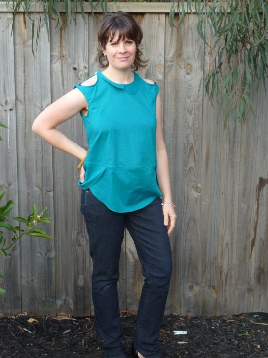 Crescent Blouse - Agean Green Voile