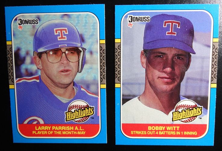 1987 Donruss Highlights Texas Rangers Team Set of 2 Baseball Cards #TexasRangers