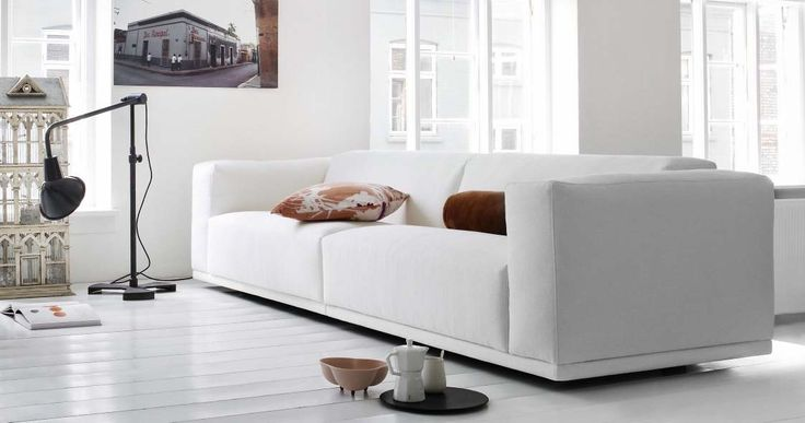 Soft Ice Sofa with High Arm by Eilersen, Denmark Imagine the feeling of delicious, soft ice cream, which clings to the lips, caresses the taste buds and slides gently down your throat. #furniture #modernfurniture #livingroom #sofa #fabricsofa