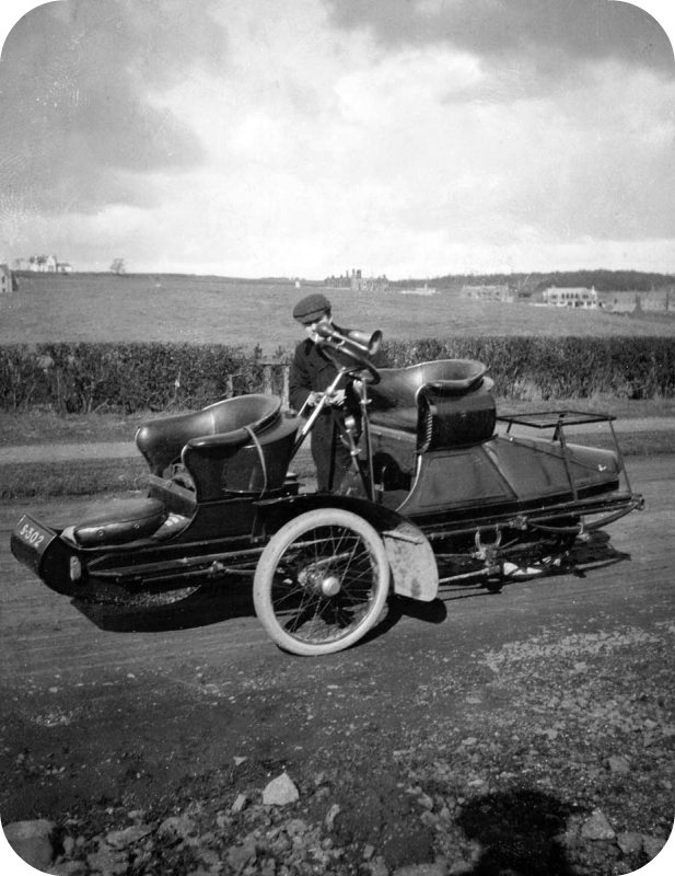 Steam Car, Scotland, 1900-1910.