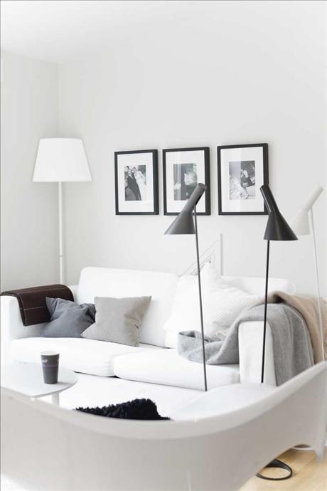 Via Skonahem   Grey and White   Arne Jacobsen Floor Lamp
