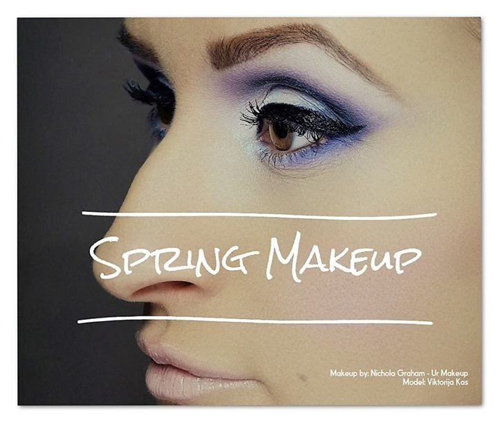 Spring makeup 2016 - beautiful lilac tones and baby pinks  #urmakeup #nicholagraham #makeupartist #cutcrease #mua #pantone2016