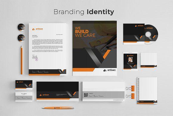 Branding Identity by artisanHR on Creative Market #stationery #corporate #identi...