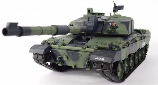 Heng Long 2.4ghz Radio Rc 1/16 British Challenger 2 Ii Airsoft Battle Tank W/smoke & Sound 1:16 Electric Ready To Go/rtr/rtf (all Included) Hobby Grade Green Plastic