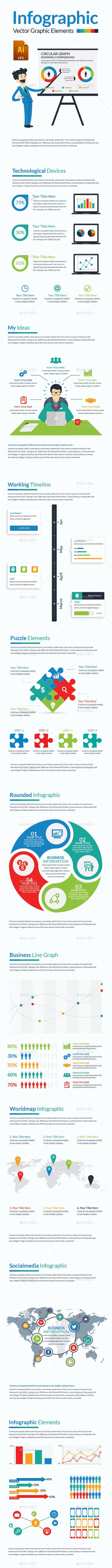 Infographics Elements Template AI Illustrator