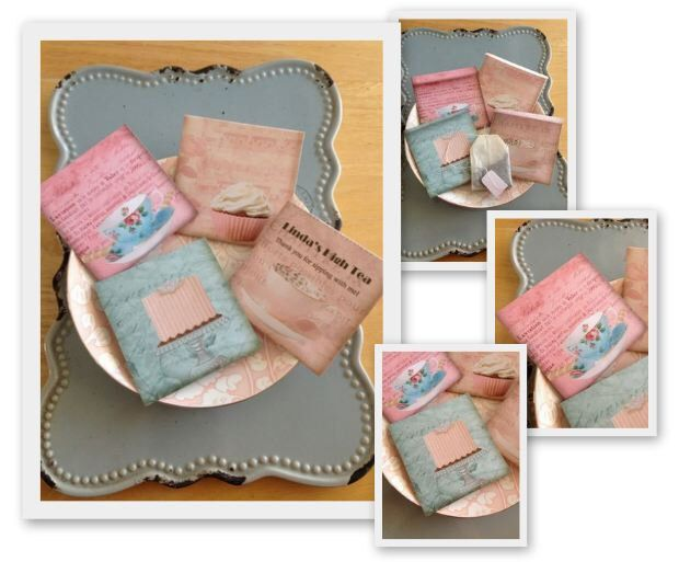 "Tea Bag Personalized Wedding Favor Or High Tea Favor ""Pastel High Tea"" Series-  including Tea Bag by ThatVintageChic on Etsy https://www.etsy.com/listing/183515184/tea-bag-personalized-wedding-favor-or"