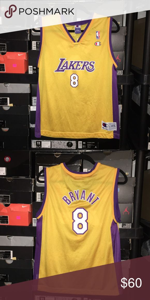 Vintage Champion Lakers Kobe Bryant Jersey L 14-16 Vintage Champion Lakers Kobe Bryant Jersey Size Kids Large 14-16. No rips or tears or stains. Champion Shirts & Tops Tank Tops