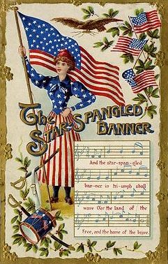 Vintage Patriotic Card ~ Star Spangled Banner