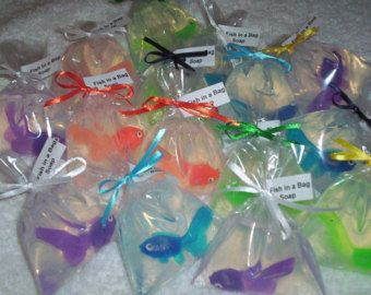 Fish in a Bag soaps 30 party favor size Carnival Party by TLCforU