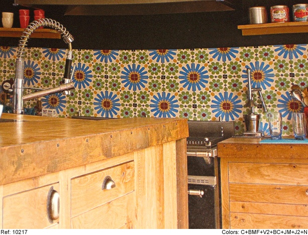 Mosaic del sur cement tiles papier carrelage pinterest for Kitchen cabinets lowes with leroy merlin papiers peints