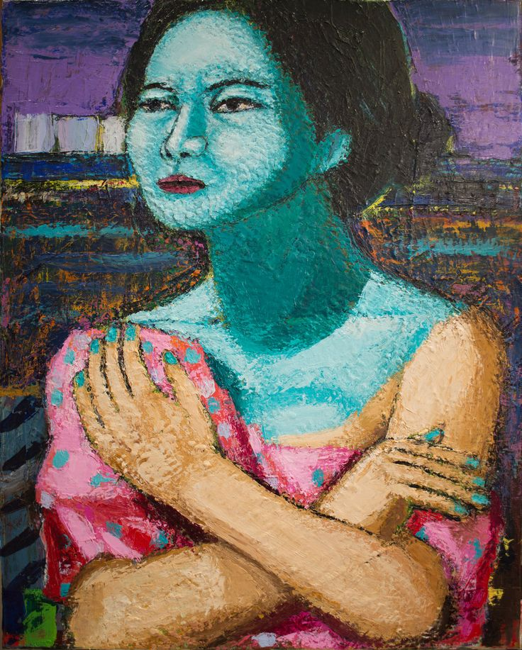 The Lady of Mokpo Acrylic on canvas 30 x 24 inches http://ift.tt/2E71qkU