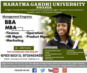 #Admission #MahatmaGandhiUniversityRwanda For Admission: Visit our Kigali Offices located in Kiyovu or , write to operations@mgu.ac.rw or info@mgu.ac.rw or visit www.mgu.ac.rw to request for the Application form. Call +250782185312/+250781276438/+250735455422 for more Application procedures.