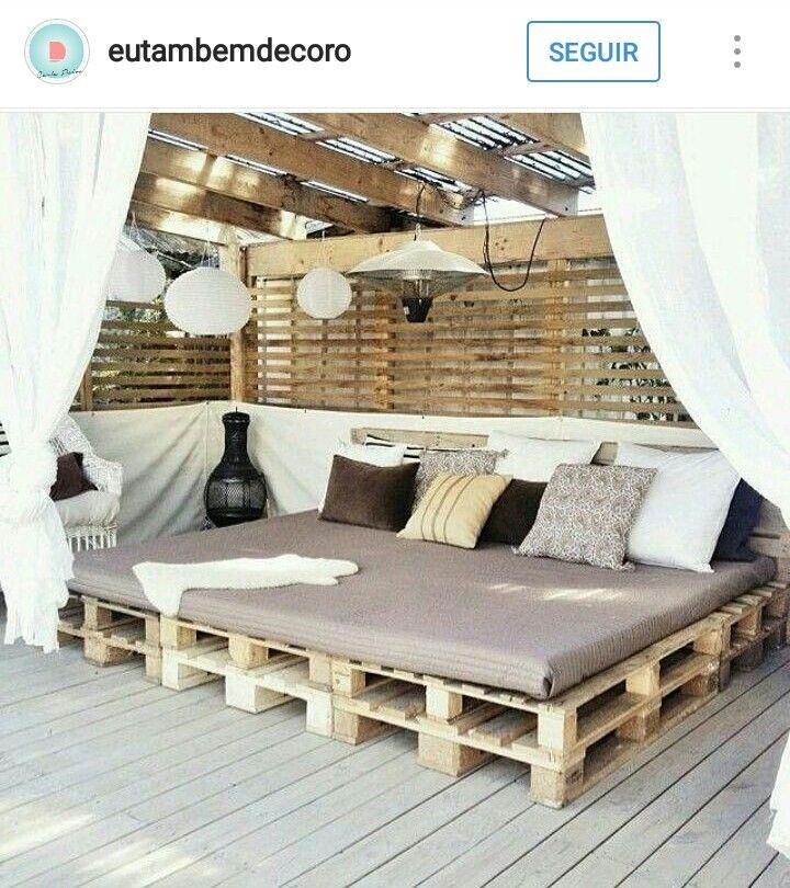 Daybed outdoor selber bauen  16 best Gemütliche Lounge Ecken im Outdoor Bereich images on Pinterest