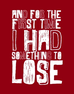 I have a habit of running across lyrics of the T. Swift songs I'm listening to at that moment.