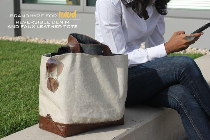 Mood DIY: Reversible Denim and Faux Leather Tote - Mood Designer Fabrics Sewciety Blog