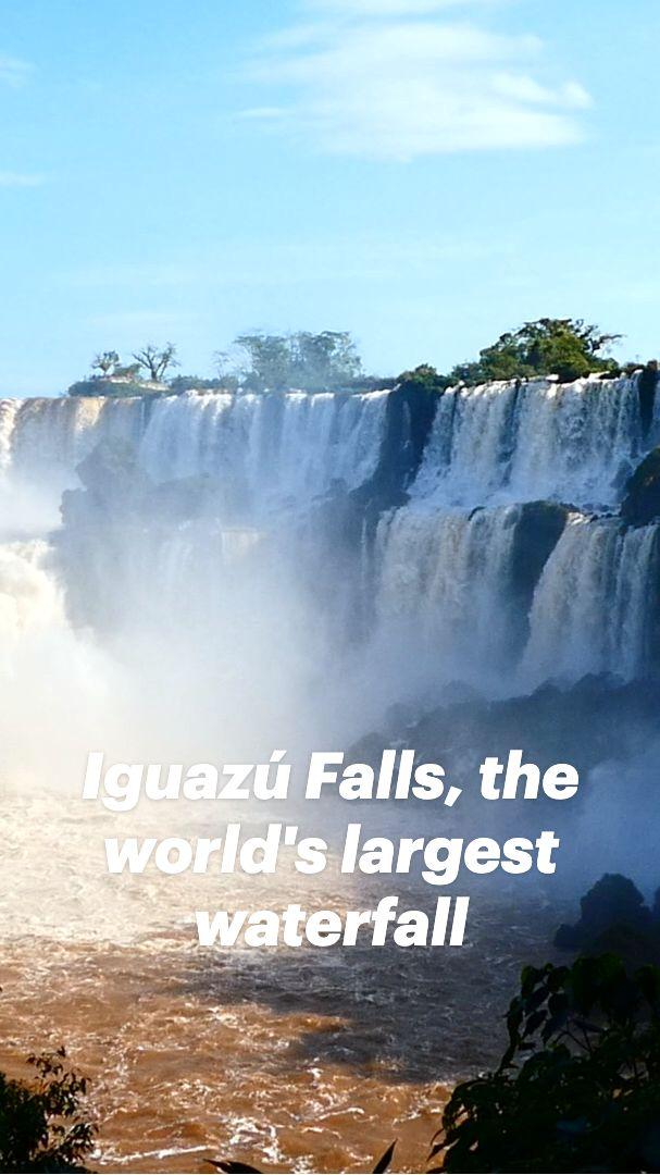 Largest Waterfall, South America Destinations, South America Travel, Places To Go, Places To Travel, Iguazu National Park, Iguazu Falls, Beautiful Waterfalls, Travel Tours