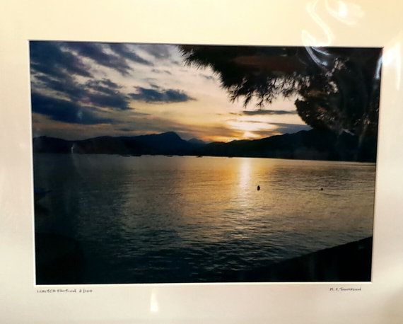Sunset Print Puerto Pollenca Majorca Balearic Isles by MalcTPhotos